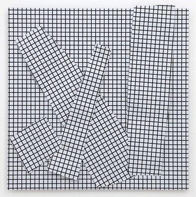 Esther Stocker, 'o.T (Blechcollage)', 2016