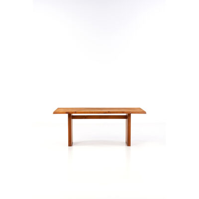 Pierre Chapo, 'T14 C; Pillar table with eight place settings', circa 1960