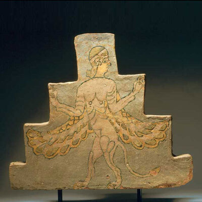 Unknown Assyrian, 'Assyrian Glazed Brick Tile Depicting a Mythological Creature', 900 BC to 700 BC