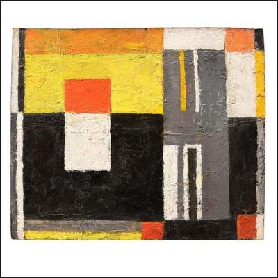 James Daugherty, 'ABSTRACTION Mid-Century Abstract Non-Objective Color Field oil American Modern', ca. 1960s