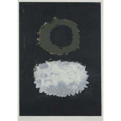 Adolph Gottlieb, 'Black field', 1972