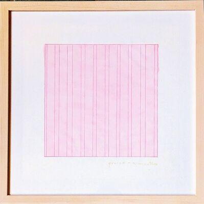 Agnes Martin, 'Praise (for the Museum of Modern Art)', 1976