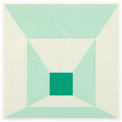 Josef Albers, 'Mitered Squares (Miami Green)', 1976