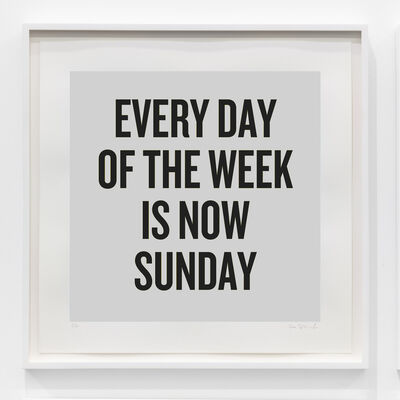 Douglas Coupland, 'Every day of the week is now Sunday', 2020