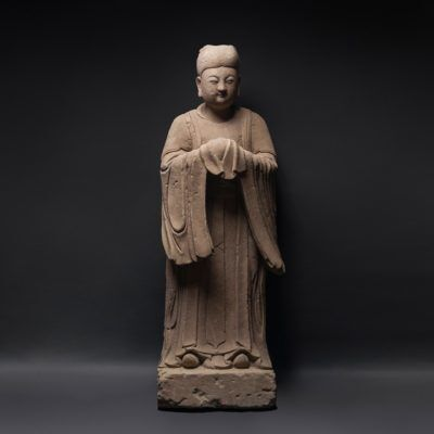 Unknown Chinese, 'Large Ming Dynasty Sandstone Lady', 1368-1644