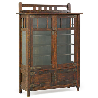 Stickley Brothers, 'China cabinet, Grand Rapids, MI', 1910s