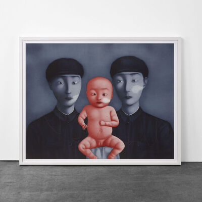 Zhang Xiaogang, 'Comrades with Red Baby', 2009