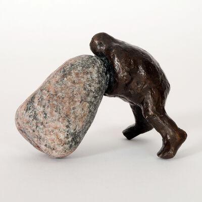 Keld Moseholm, 'Man with Stone', 2019