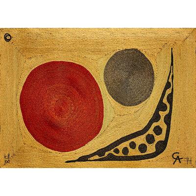 "Bon Art, 'Maguey Fiber Tapestry, ""Moon"", Guatemala', 1974"
