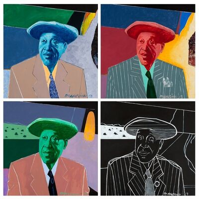 Maurice Burns, 'Jimmy Yancey (quadriptych)', 2013