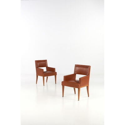 Jacques Quinet, 'Pair of armchairs', 1940s