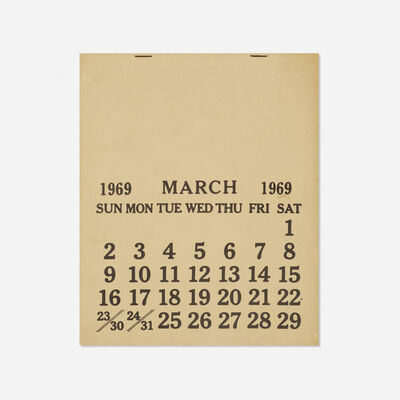 Seth Siegelaub, 'One Month (March 1-31, 1969)', 1969
