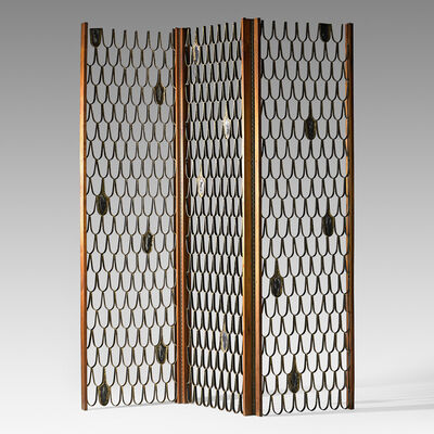 Paul Evans (1931-1987), 'Fine tri-panel screen/room divider, New Hope, PA', ca. 1959