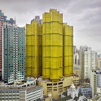 Peter Steinhauer, 'Yellow Cocoon #1, Hong Kong – 2010', 2010