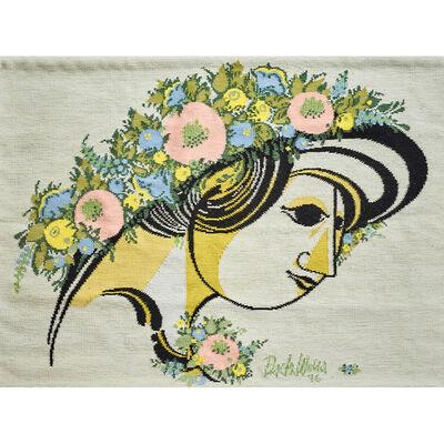 "Bjørn Wiinblad, 'Wall-Hanging Tapestry, ""Mima's Summerhat"", Portugal', 1976"