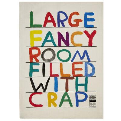 "David Shrigley, '""FANCY ROOM"" TEA TOWEL', 2013"