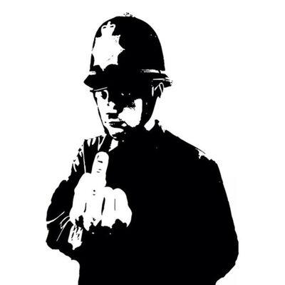 """Banksy, 'Boys In Blue - Funk Tha Police 12""""', 2015"""