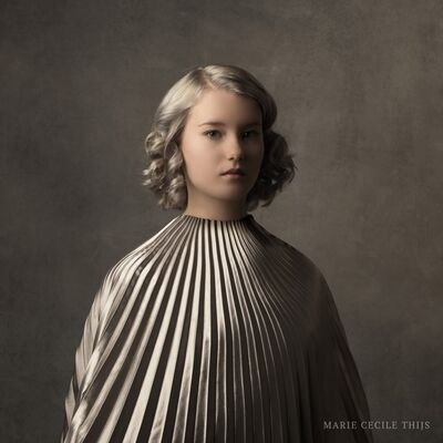 Marie Cecile Thijs, 'Girl in silver cape', 2016
