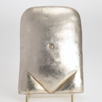 Xawery Wolski, 'Silver Torso Polish French Modern Gilt Sculpture', 1997