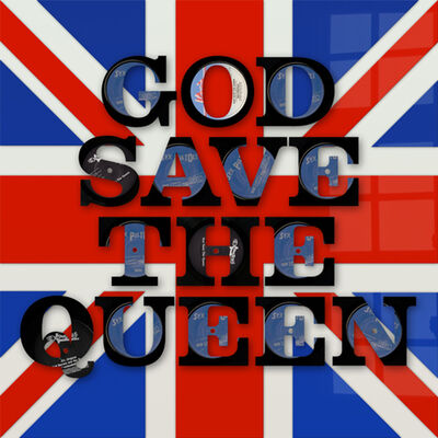 Keith Haynes, 'God Save the Queen Vinyl Words', N/A