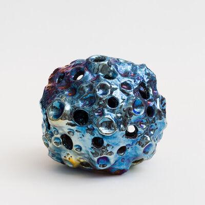 Julia Kunin, 'Blue fumed Moon Lamp (small hanging)', 2018