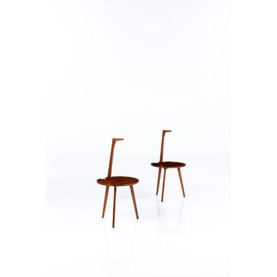 Franco Albini, 'Model Tn6 Said Cicognino; Pair Of Pedestal Tables', 1952