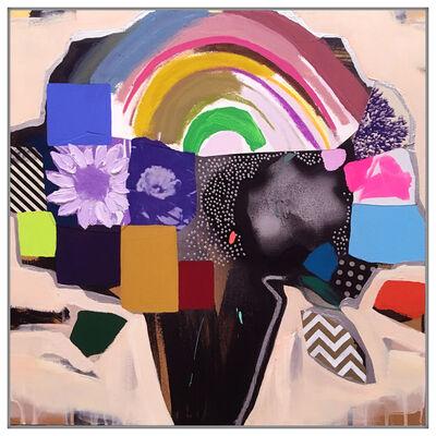 Emily Filler, 'Vase of Flower (Pale Peach + Rainbow)', 2019