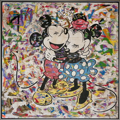 Mr. Brainwash, 'Mickey and Minnie', 2011