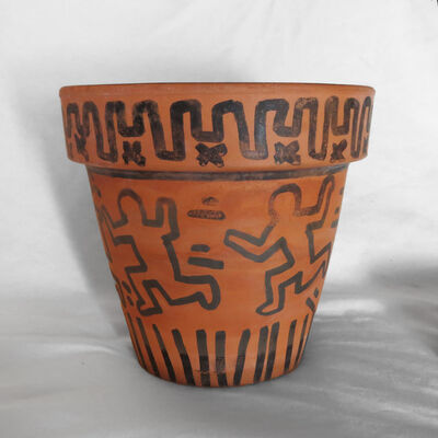 Keith Haring, 'Untitled (Flower pot and saucer)', 1982