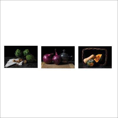 Dora Franco, 'Alcachofas, Cebollas II and Pumpkin. Triptych', 2015