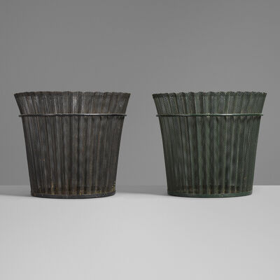Mathieu Matégot, 'Wastepaper baskets, pair', 1954