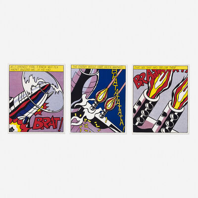 Roy Lichtenstein, 'As I Opened Fire poster (triptych)', 1966