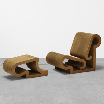 Frank Gehry, 'Easy Edges chair and ottoman', 1972