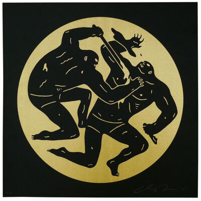 Cleon Peterson, 'Destroying The Weak 2 - Gold', 2015