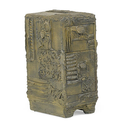 Paul Evans, 'Sculptured Metal custom two-drawer cabinet', 1974