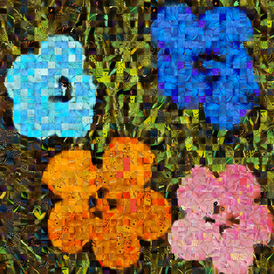 Andrea Morucchio, 'Hibiscus 02 | Puzzling Pop series | Revisiting Andy Warhol's Flowers ', 2019
