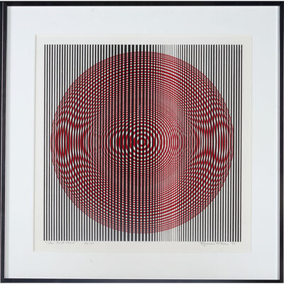 "Reginald Neal, '""Red Circle Moiré,"" Edition Of 60, USA', 1969"