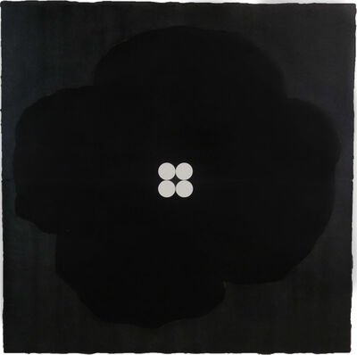 Donald Sultan, 'Black Poppy with Four Dots, May 20, 2013', 2013
