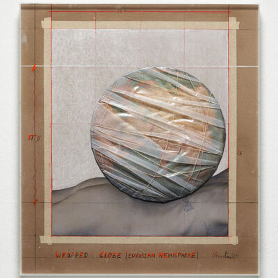 Christo, 'Wrapped Globe (Eurasia Hemisphere)', 2019