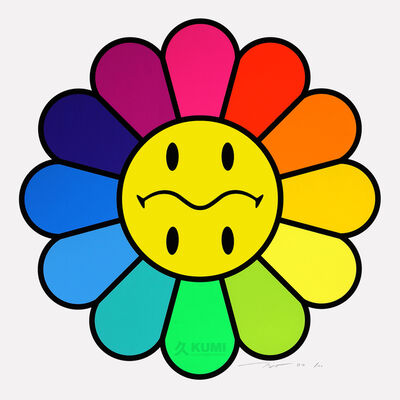Takashi Murakami, 'Rainbow Smiley', 2020