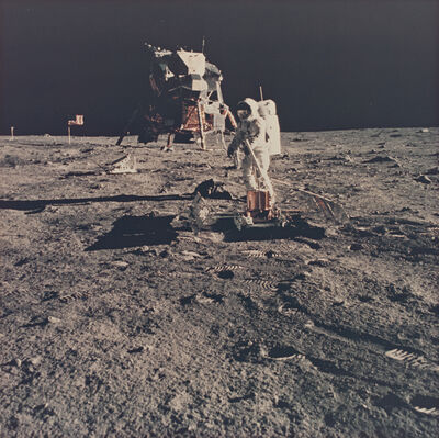 Neil Armstrong, 'Aldrin deploys the passive seismic experiment', 1969