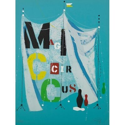 Wolfgang Roth, 'Rare Wolfgang Roth Dada Bauhaus Circus Silkscreen Print', 20th Century