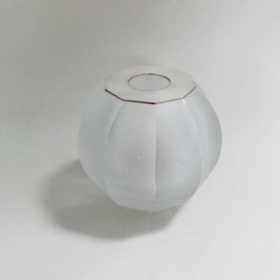 Anna Dickinson, 'Small clear faceted sphere with copper and silver top', 2019