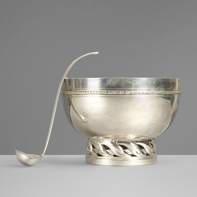 Tiffany & Company, 'Punch bowl and ladle', c. 1940