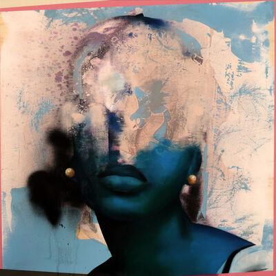Manu Muñoz, 'Intermittent portrait blue', 2020