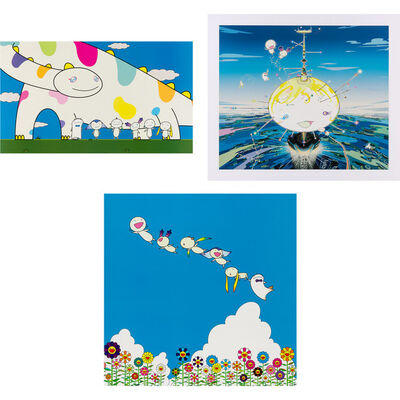 Takashi Murakami, 'YOSHIKO AND THE CREATURES CAME FROM PLANET 66; MAMU CAME FROM THE SKY; PLANET 66: SUMMER VACATION', 2003 (2) and 2004