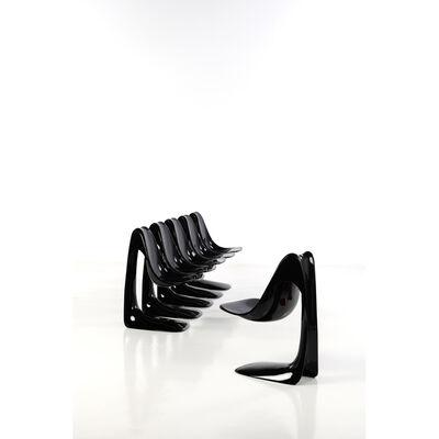 Angelo Mangiarotti, 'Set of six chairs', circa 1983