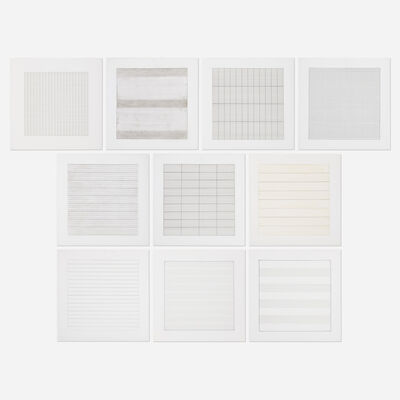Agnes Martin, 'Paintings and Drawings: Stedelijk Museum Portfolio', 1990-1991