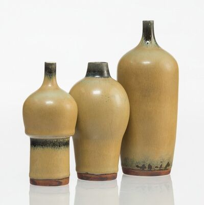 Carl Harry Stålhane, 'Three Hare's Fur-Glazed Vases', circa 1944