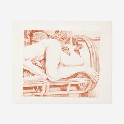 Philip Pearlstein, 'Nude on a Bamboo Sofa', 1981